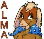 almalthia anthro blue_eyes caprine cute dragon duo ear_piercing female goat green_eyes hida low_res mammal name_badge piercing scalie tongue zeriaraRating: SafeScore: 0User: The Dog In Your GuitarDate: May 12, 2007