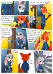 ... 2017 absurd_res anthro canine clothed clothing comic dialogue disney english_text female fox green_eyes half-closed_eyes hi_res judy_hopps lagomorph male mammal nick_wilde peanut.k police_uniform rabbit text uniform zootopiaRating: SafeScore: 2User: Nicklo6649Date: March 12, 2018