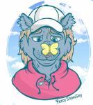 2017 anthro blue_fur buterfly digital_drawing_(artwork) digital_media_(artwork) feline fur hair hat hi_res male mammal ruze_(panther) simple_background solo white_backgroundRating: SafeScore: 1User: RuzeDate: September 24, 2017