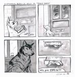 ! 2018 4koma ? absurd_res black_nose canine chihuahua comic customer_service_wolf dialogue dog hi_res mammal onomatopoeia snout sound_effects text unknown_artist wolfRating: SafeScore: 7User: ArgovrilDate: June 19, 2018