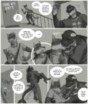 anthro canine cetacean clothed clothing comic dialogue english_text fur hi_res inside kissing male male/male mammal marine monochrome muscular muscular_male orca rov smile text whaleRating: SafeScore: 0User: Cat-in-FlightDate: August 24, 2017