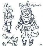 angel_(lightsource) anthro armor bone bracers breasts canine chainmail dog female helmet hi_res lightsource looking_at_viewer mammal melee_weapon monochrome sketch smile solo sweat sword weaponRating: SafeScore: 4User: Nicklo6649Date: April 10, 2018