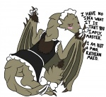 blush capcom clothing dragon english_text female feral lusty_argonian_maid maid_uniform membranous_wings monster_hunter parody rathian scalie solo text uniform unknown_artist video_games wingsRating: SafeScore: 22User: Juni221Date: October 13, 2013