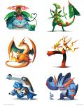 <3 ambiguous_gender anthro arkeis-pokemon avian baby bird black_eyes blue_eyes blue_skin bud bulbasaur cannon charmander claws cute digital_media_(artwork) dragon duo feral fire flaming_tail flexing flower hi_res leaf mammal marshmallow mega_blastoise mega_blaziken mega_charizard mega_charizard_y mega_evolution mega_sceptile mega_swampert mega_venusaur membranous_wings mudkip muscular nintendo orange_eyes orange_skin plant playing pokémon pokémon_(species) ranged_weapon red_eyes reptile scalie shell simple_background squirtle starter_trio stick teeth torchic treecko turtle video_games vines weapon white_background wings yellow_eyes young