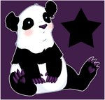 <3 ambiguous_gender bear black_fur blush claws cute dox ear_piercing feral fur low_res mammal panda paws piercing sitting solo white_fur zeriaraRating: SafeScore: 0User: The Dog In Your GuitarDate: May 12, 2007