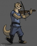 2011 anthro bow_(stringed_instrument) clothing dancing grey_background holding_object kobb kobbers male mammal music musical_instrument mustelid otter pants playing_music playing_violin simple_background solo sound tunic violinRating: SafeScore: 7User: toboeDate: May 10, 2012