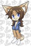 2017 ambiguous_gender animated anthro blue_hair brown_fur brown_hair canine clothed clothing ear_tuft fox fur hair legwear long_hair looking_at_viewer loop mammal navel no_sound pettankon simple_background smile socks solo tuft white_furRating: SafeScore: 7User: NarcolepsyStormDate: June 22, 2017