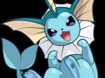 eeveelution excited feral nintendo pokémon pokémon_(species) simple_background solo vaporeon video_games