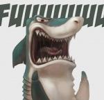 ambiguous_gender angry dental_floss fangs fin fish humor mammal marine meme open_mouth shark silverfox5213 solo teeth tongue yellingRating: SafeScore: 45User: KaikDate: April 13, 2012