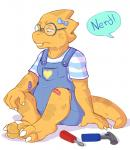 2015 alphys anthro bandage clothed clothing crying dialogue eyewear female glasses hi_res insult lizard nerd reptile sad scalie shadowpelt simple_background sketch solo tears toy undertale video_games white_background youngRating: SafeScore: 5User: slyroonDate: June 29, 2017