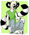 2007 anthro clothed clothing crossgender ear_piercing emo heterochromia lemur male mammal pants piercing primate shirt sitting solo zeriara zeriara_(character)Rating: SafeScore: 2User: The Dog In Your GuitarDate: May 12, 2007