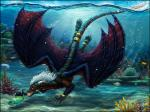 ambiguous_gender detailed_background detailed_scales dragon feral fish group hair horn marine membranous_wings open_mouth scalie sidonie teeth tongue underwater water western_dragon white_hair wings yellow_eyesRating: SafeScore: 14User: MillcoreDate: September 23, 2017