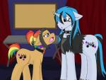 clothing duo earth_pony epic_rhyme equine fan_character female feral horn horse jolliapplegirl male mammal my_little_pony pony serenade_(chopin) story story_in_description unicorn