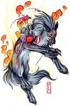 amaterasu black_fur canine capcom claws deity female feral fur mammal markings pearleden solo unusual_coloring video_games white_fur wolf yellow_eyes ŌkamiRating: SafeScore: 1User: DogenzakaDate: August 08, 2009