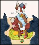 2013 anthro black_border blue_shirt border clothing diaper fur group pacifier rug saliva shirt simple_background t-shirt toy toy_cube white_backgroundRating: SafeScore: 2User: usernamDate: March 31, 2017
