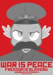 anthro big_brother crossover cult_of_personality dragon election equestria-election facial_hair friendship_is_magic hat male mustache my_little_pony nineteen_eighty-four parody poster propaganda russian scalie solo soviet_union spike_(mlp)