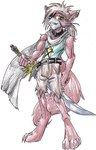 anthro canine fox holding_object holding_weapon male mammal melee_weapon smithygcn solo sword tayn weaponRating: SafeScore: 0User: LadyFuzztailDate: March 19, 2007