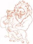 anthro carolyn_schneeweiss duo feline female lion male male/female mammal monochrome nude semi-anthro standingRating: SafeScore: 0User: AnomynousDate: April 24, 2007