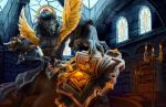 anthro book candle canine claws clothed clothing detailed_background digital_media_(artwork) female fire fur gem glass hair holding_object holding_weapon inside library mammal melee_weapon robe rou-tan_(artist) snarling solo spellbook staff standing teeth video_games warcraft weapon were werewolf window wolf worgen yellow_eyesRating: SafeScore: 19User: slyroonDate: February 18, 2018