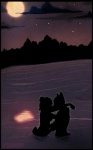 2009 anthro breasts cubi dark dark_theme detailed_background duo female kissing love male male/female mammal moon moonlight night outside partially_submerged restricted_palette romantic romantic_ambiance romantic_couple side_boob silhouette sky star starry_sky sunset unknown_species waterRating: SafeScore: 2User: AnomynousDate: May 13, 2009