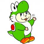 hamster kigurumi mammal mario_bros nintendo nishi oxynard rodent simple_background solo video_games white_background yoshiRating: SafeScore: 3User: underkerfluffleDate: April 01, 2018