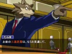 ace_attorney_(series) alternate_species anthro canine capcom compression_artifacts fake_screenshot furrification humor japanese_text low_res male mammal objection! parody phoenix_wright screencap solo text translated unknown_artist video_games wolf