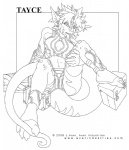 anthro bandage breasts cleavage clothed clothing female j_axer lizard looking_at_viewer midriff non-mammal_breasts reptile scalie sitting solo spread_legs spreading tayce tongue tongue_out urlRating: SafeScore: 3User: JazzDate: August 29, 2009