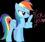 <3 alpha_channel angry blue_feathers blue_fur english_text equine feathered_wings feathers female feral friendship_is_magic frown full-length_portrait fur hair ieatedaunicorn insult mammal middle_finger multicolored_hair multicolored_tail my_little_pony pegasus portrait rainbow_dash_(mlp) rainbow_hair rainbow_tail reaction_image simple_background solo text transparent_background wingsRating: SafeScore: 43User: darknessRisingDate: November 03, 2013