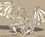 cybernetics cyborg detailed dragon female full_body machine metal monochrome robot ryoku7Rating: SafeScore: 2User: GravewalkerDate: August 19, 2017