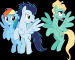 blue_feathers blue_hair cutie_mark equine feathered_wings feathers female feral friendship_is_magic fur group hair long_hair male mammal multicolored_hair my_little_pony pegasus rainbow_dash_(mlp) rainbow_hair shabrina025 soarin_(mlp) wings wonderbolts_(mlp) zephyr_breeze_(mlp)Rating: SafeScore: 0User: Nicklo6649Date: April 23, 2018