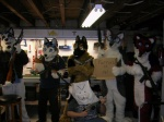 4chan >:3 anthro canine dog eyewear fursuit goggles group gun human male mammal paper_bag ranged_weapon real rifle unknown_artist weapon