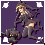 banette body_zipper cosplay duo female grey_hair hair human humanoid long_hair low_res mammal mouth_zipper nintendo pokémon pokémon_trainer ranphafranboise red_eyes video_games zipper