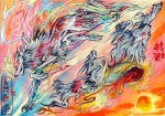 amaterasu canine capcom deity duo female feral fur mammal markings pearleden traditional_media_(artwork) unusual_coloring video_games white_fur wolf ŌkamiRating: SafeScore: 3User: DogenzakaDate: August 08, 2009