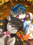 2015 autumn aymint black_hair blue_hair bow_tie cello clothing cute detailed_background duo earth_pony equine eyebrows eyelashes eyewear female friendship_is_magic frown glasses hair horn horse leaves looking_at_viewer lying makeup mammal mascara mostly_nude musical_instrument my_little_pony octavia_(mlp) on_back open_mouth open_smile outside pony portrait purple_eyes shirt short_hair smile unicorn vest vinyl_scratch_(mlp)Rating: SafeScore: 10User: GlimGlamDate: January 21, 2018