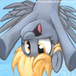 2013 blonde_hair derp_eyes derpy_hooves_(mlp) equine feathered_wings feathers female friendship_is_magic grey_feathers hair low_res mammal my_little_pony pegasus portrait smile solo sophiecabra upside_down wings yellow_eyesRating: SafeScore: 37User: 2DUKDate: June 07, 2013