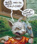 anthro cat cellphone chris_goodwin clothing dialogue english_text feline male mammal phone shirt solo text
