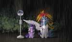 2013 animated avian bird bus_stop bush dragon eponymous equine eyes_closed feathered_wings feathers female feral friendship_is_magic fur ghibli green_eyes group hair horn male mammal multicolored_hair my_little_pony my_neighbor_totoro outside parody philomena_(mlp) phoenix princess_celestia_(mlp) purple_eyes purple_fur purple_hair raining red_body scalie sitting sleeping spike_(mlp) twilight_sparkle_(mlp) two_tone_hair unicorn white_fur winged_unicorn wings