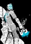 armor dead_space gun hi_res human isaac_clarke male mammal monster necromorph plasma_cutter ranged_weapon solo unknown_artist video_games weaponRating: SafeScore: 20User: LulztronDate: September 11, 2011