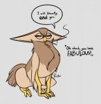 avian bird black_eyes brown_feathers cigarette_holder eyewear feathers feretta glasses grumpy gryphon owl sha_vida simple_background tale_of_tails tan_feathersRating: SafeScore: 4User: FerettaDate: April 24, 2017