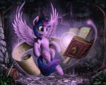 2014 5:4 book cutie_mark detailed_background equine feathered_wings feathers female feral forest friendship_is_magic fur hair hi_res horn magic mammal melee_weapon multicolored_hair my_little_pony outside purple_eyes purple_feathers purple_fur purple_hair runes saddle_bag scroll solo sword tree twilight_sparkle_(mlp) two_tone_hair weapon winged_unicorn wings yakovlev-vadRating: SafeScore: 38User: SomeponyDate: February 14, 2014