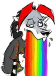 anthro canine goth low_res male mammal poofywolf rainbow solo source_request technicolor_yawn vomit wolfRating: SafeScore: 3User: mscDate: March 26, 2007