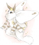 ambiguous_gender anthro arthropod blush crown cute insect insect_wings kavaa moth multi_arm multi_limb prince royalty simple_background solo sparkles wings
