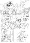 2017 angry_face anon anthro backpack black_and_white building city clothed clothing comic crowd detailed_background dialogue digital_media_(artwork) duo_focus eyelashes eyes_closed eyewear female food friendship_is_magic fruit glasses group hair hands_above_head hi_res horn human japanese_text male mammal monochrome moondancer_(mlp) my_little_pony nidoqueen nintendo open_mouth outside plant pointing pokémon pokémon_(species) queenie_(shoutingisfun) shirt shoutingisfun sign sky smile street teeth text the_legend_of_zelda tomato tree triforce video_games walking wide_eyedRating: SafeScore: 18User: DeadEndFriendDate: November 10, 2017