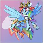 2018 8xenon8_(artist) bandage bandanna belt blue_feathers blush clothing coat costume cutie_mark digital_media_(artwork) equine eyebrows eyewear feathered_wings feathers female feral friendship_is_magic goggles hair happy hooves horse mammal multicolored_hair multicolored_tail my_little_pony open_mouth pegasus piercing pirate pony rainbow_dash_(mlp) rainbow_hair rainbow_tail red_eyes simple_background smile solo teeth underhoof wingsRating: SafeScore: 6User: DeerpressionDate: February 14, 2018
