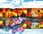 2017 autumn beanie blue_eyes boat building chimney cloudscape cub dragon dsana earth_pony equine eyelashes feathered_wings feathers fog friendship_is_magic green_eyes group hair hat holding_object horn horse house lake lantern leaves mammal mostly_nude multicolored_hair my_little_pony one_eye_closed open_mouth open_smile pier pink_hair pinkie_pie_(mlp) pony purple_eyes raft reflection scarf seaside sitting sky slit_pupils smile smoke spike_(mlp) stick striped_scarf stripes teeth tongue tree twilight_sparkle_(mlp) vehicle water winged_unicorn wings wink young