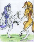 anthro canine digitigrade female feral footbag goldenwolf group hacky_sack kick mammal mane_hair rodent squirrel were werewolf wolfRating: SafeScore: 3User: AnomynousDate: April 23, 2007