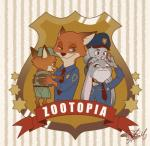 2018 anthro badge blue_eyes canine clothing disney ears_down female fox green_eyes group hat holding_character judy_hopps lagomorph long_ears looking_back male mammal necktie nick_wilde one_eye_closed open_mouth open_smile police police_uniform rabbit smile square_crossover uniform young zootopia ぷぴこ@修行中Rating: SafeScore: 5User: bladdblahDate: June 19, 2018