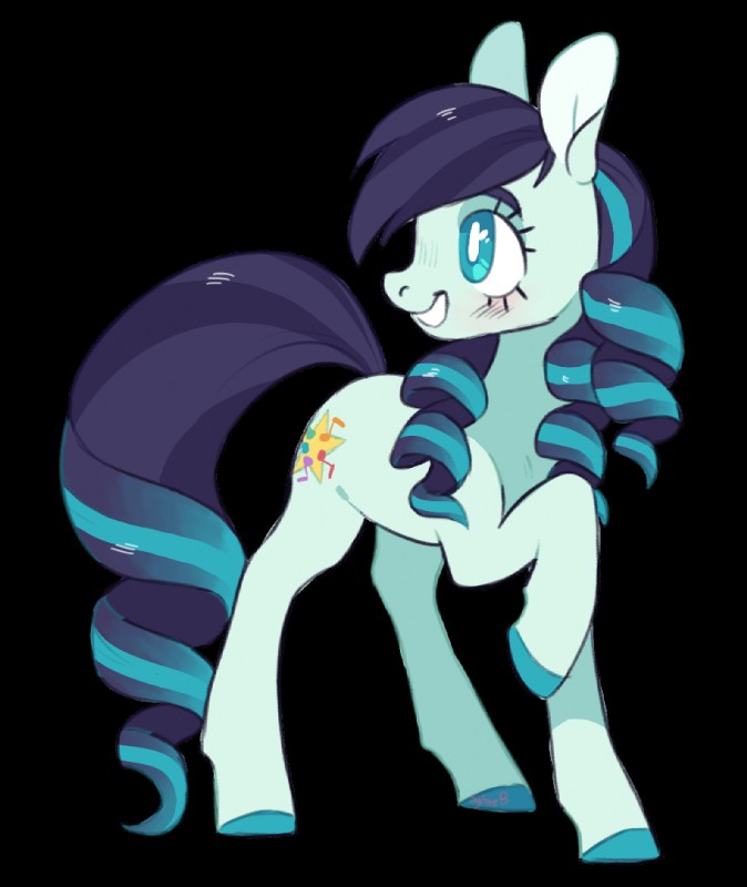 e926 2018 8xenon8_(artist) alpha_channel blue_eyes coloratura_(mlp) cutie_mark earth_pony equine eyelashes female feral friendship_is_magic hair happy hi_res hooves horse mammal multicolored_hair my_little_pony pony simple_background smile solo standing teeth transparent_background