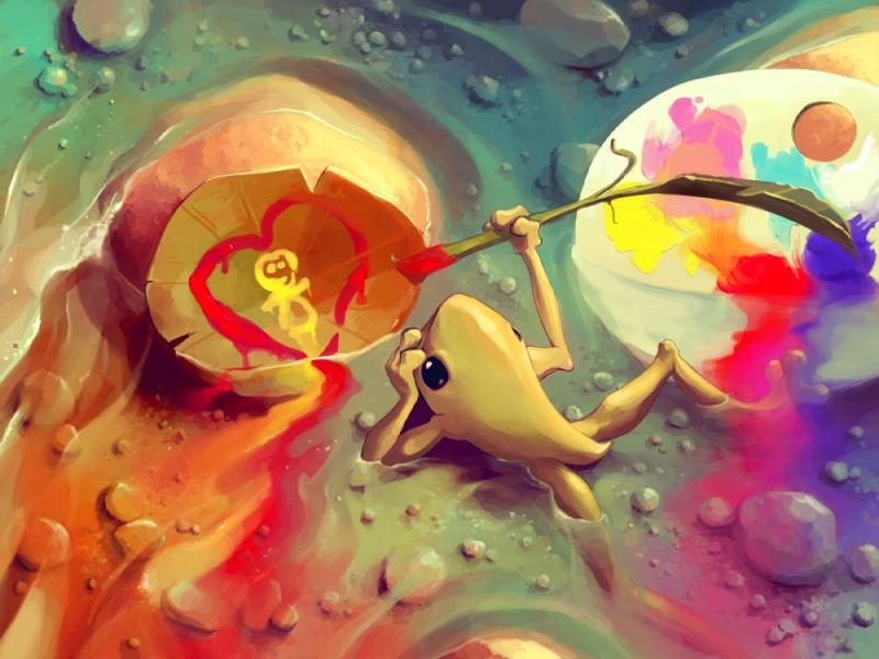e926 ambiguous_gender amphibian aquasixio digital_media_(artwork) feral frog green_skin solo water
