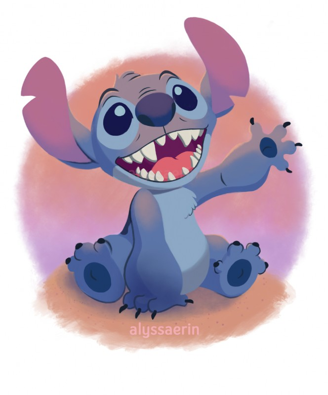 e926 2017 4_fingers 4_toes alien alyssa_erin back_markings black_claws blue_eyes blue_fur blue_nose chest_tuft claws cute digital_drawing_(artwork) digital_media_(artwork) disney experiment_(species) fur head_tuft hi_res lilo_and_stitch looking_up markings no_sclera notched_ear open_mouth open_smile simple_background sitting smile solo stitch toe_claws toes tuft watermark waving white_background